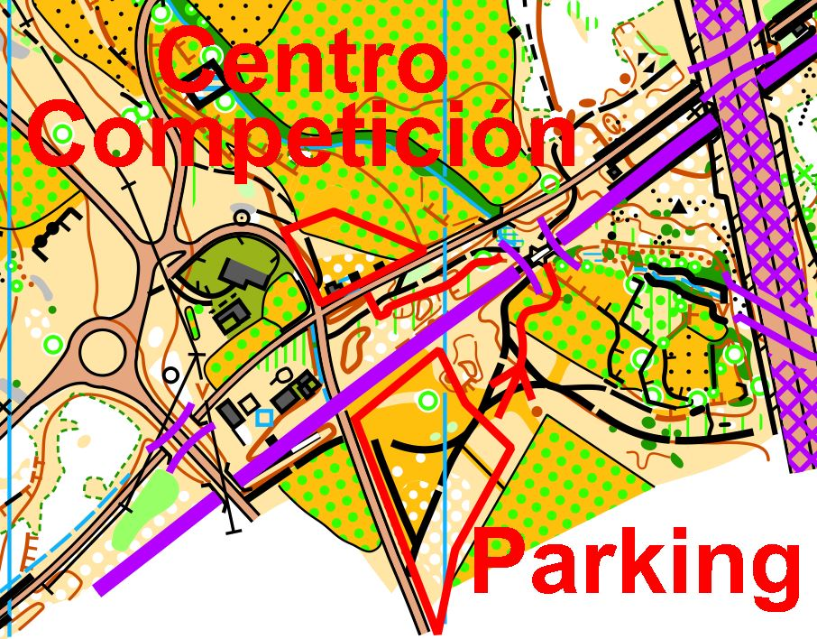 Paso del parking al centro de competición